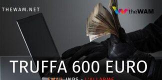 Truffa email 600 euro inps