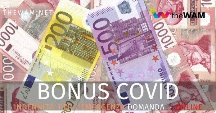 Bonus 1000 euro e altre indennità Covid. E' online il servizio di domanda dell'Inps