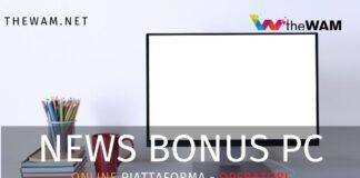 Bonus Pc. Online la piattaforma per gli operatori