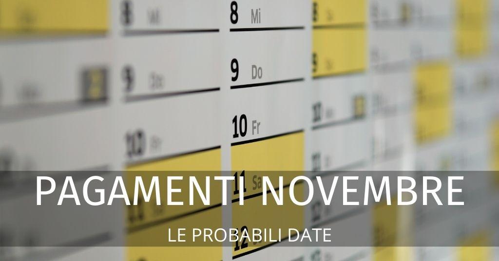 Bonus novembre 2020: le date da tenere d'occhio per i pagamenti
