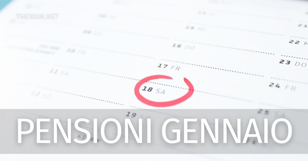 Pagamento pensioni gennaio 2021: chi dovrà aspettare il 4 gennaio?