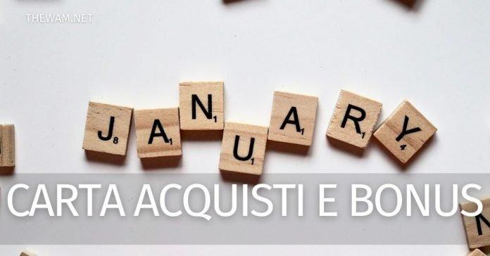 Carta acquisti, Bonus 1000 euro: novità su pagamenti gennaio 2021?