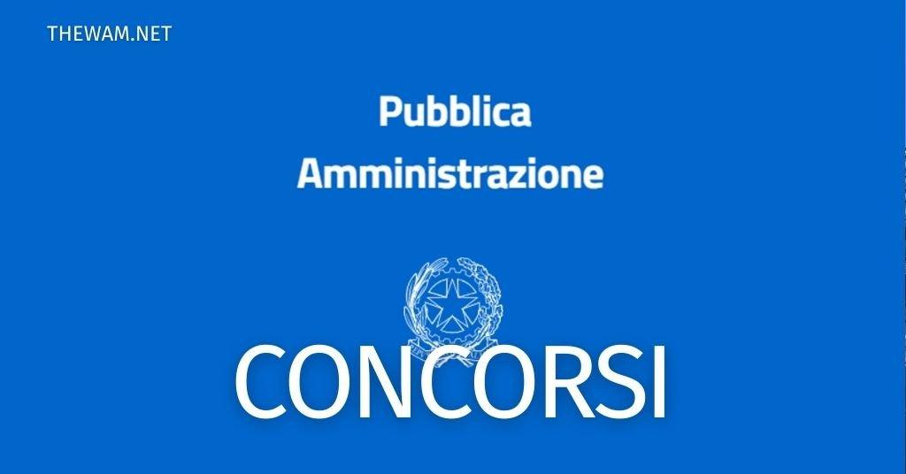 Concorsi Pubblica Amministrazione 2021