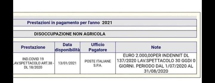 Pagamento bonus 1000 euro gennaio 2021