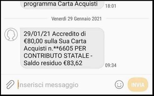 carta acquisti pagamento gennaio 2021 screenshot