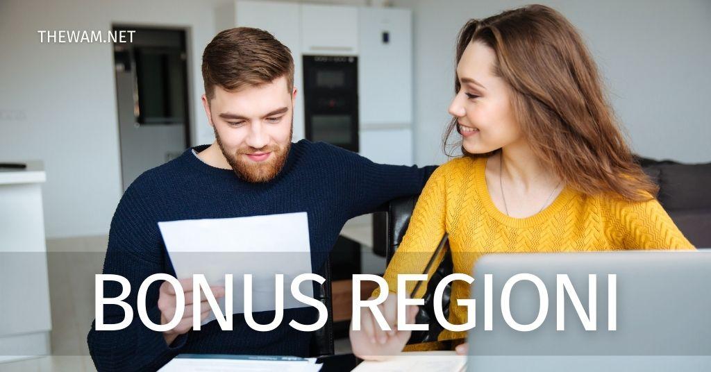Bonus regionali per famiglie e imprese tutti quelli attivi