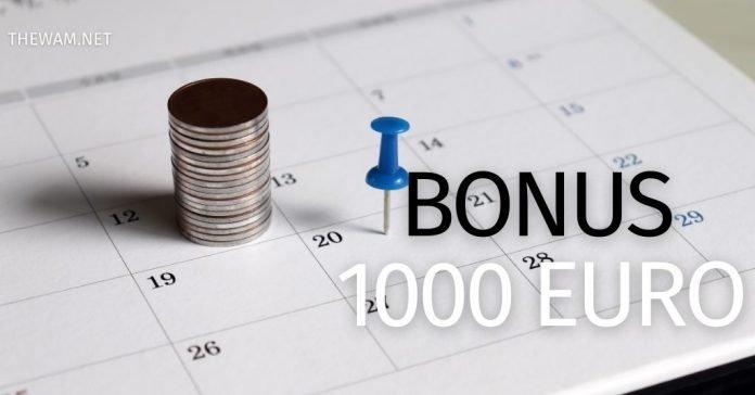 bonus 1000 euro quando arriva pagamento