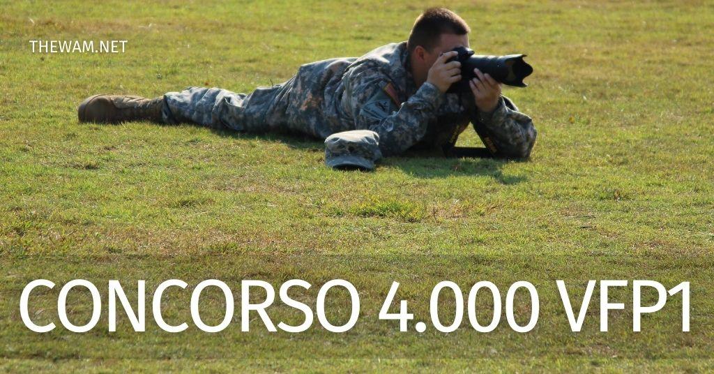 Concorso esercito 2021 per 4000 VFP1