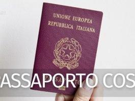 Quanto costa il passaporto?