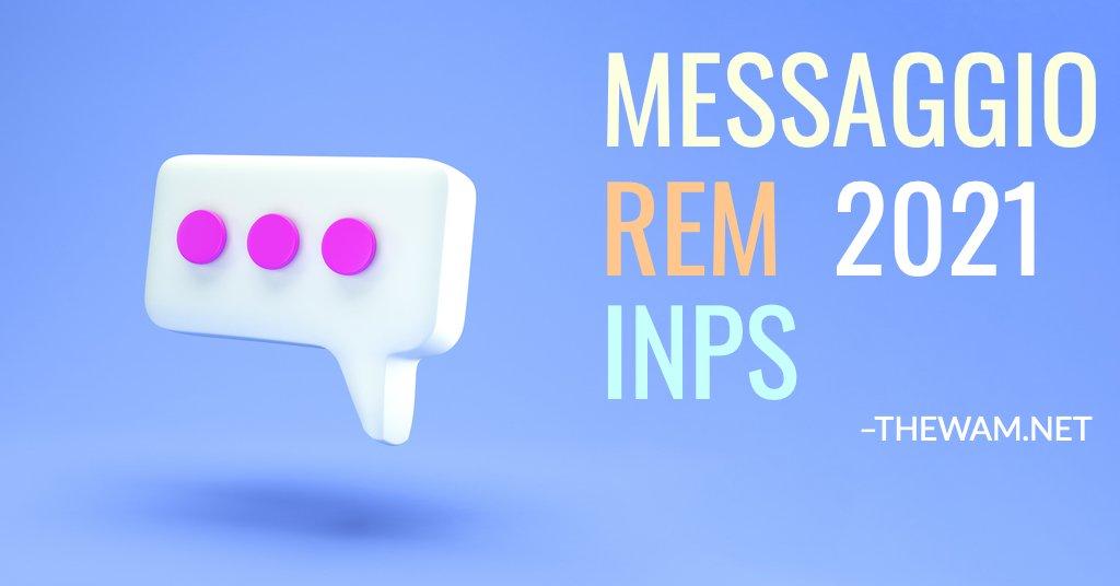 Reddito di emergenza 2021 messaggio Inps niente Rem 2021