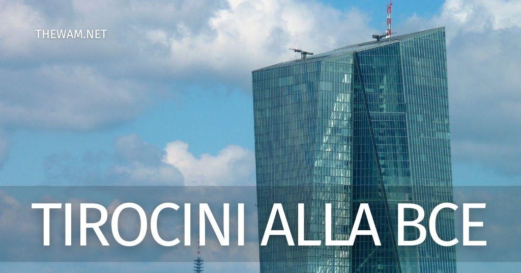 Tirocini alla banca centrale Europea