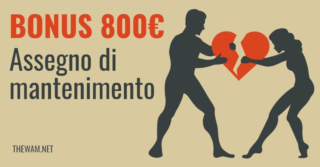 Assegno di mantenimento, in arrivo bonus da 800 euro