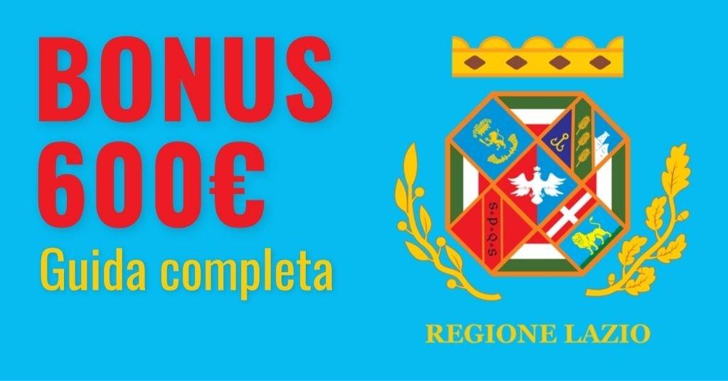 Bonus 600 euro Regione Lazio 2021: domanda e requisiti