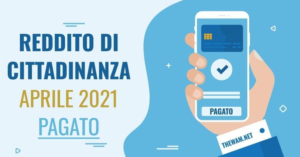 Reddito di cittadinanza aprile 2021: partiti i pagamenti