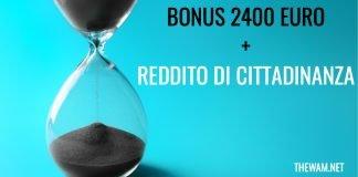 Bonus 2400 euro pagamento integrazione reddito di cittadinanza