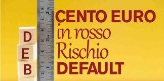 Conto corrente in rosso di 100 euro: sanzioni gravissime