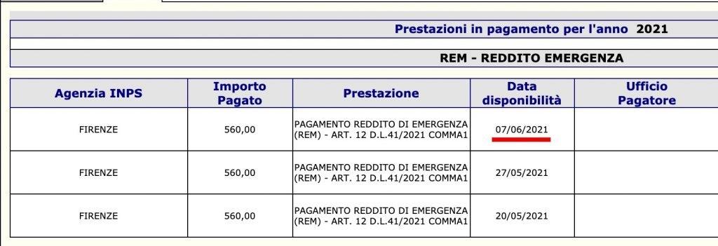 Reddito di emergenza pagamento terza ricarica Rem