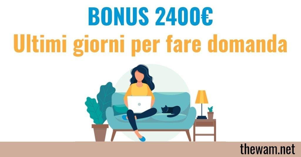 Bonus 2400 euro in scadenza: guida illustrata alla domanda
