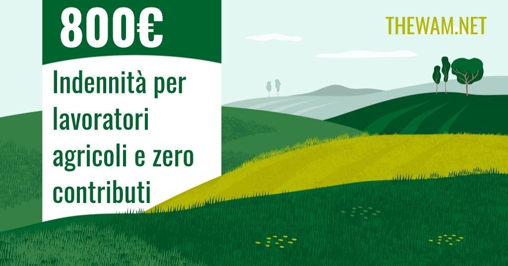 Bonus Agricoli, ufficiale: 800 euro e zero contributi