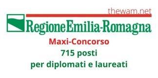 Concorso Emilia-Romagna, 715 posti. Anche per diplomati