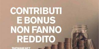 Bonus e contributi a fondo perduto esclusi dal reddito