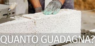 Quanto guadagna un muratore in Italia e all'estero?