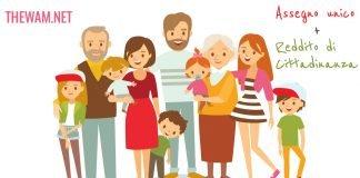 Assegno unico 2021 figli a carico reddito di cittadinanza