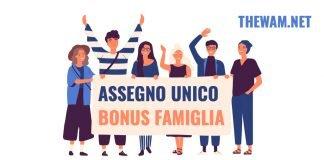 Assegno unico tabelle bonus famiglia importi