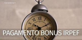 Pagamento Bonus Irpef Naspi giugno 2021: quando arriva sul conto?