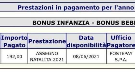 Pagamento bonus bebè giugno dal gruppo reddito di cittadinanza e reddito di emergenza Covid-19