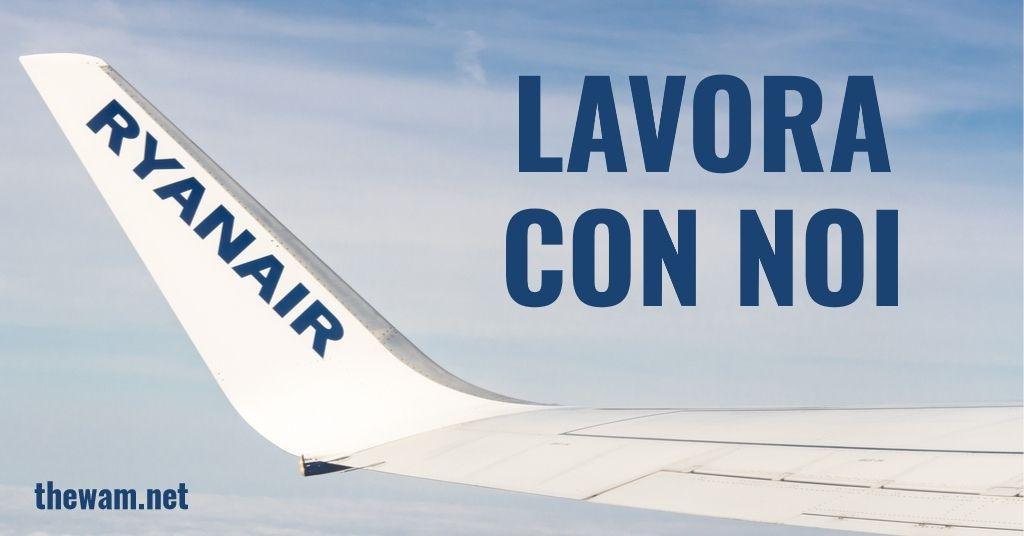Ryanair lavora con noi: posizioni aperte a giugno 2021