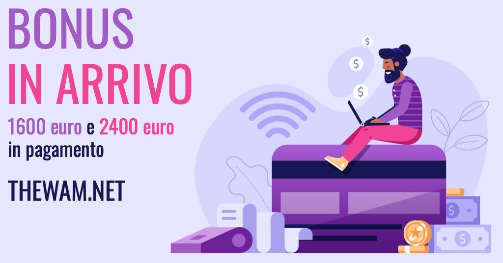 Bonus 1600 euro e bonus 2400 euro pagamenti oggi