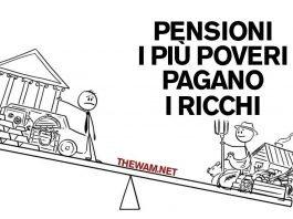 Pensioni, sono i più poveri a pagare i più ricchi