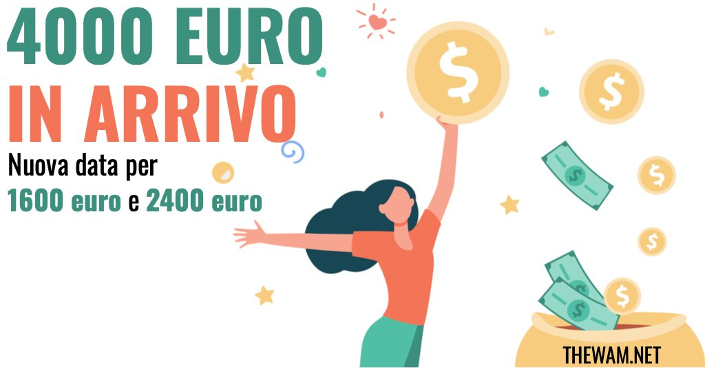 bonus 1600 euro e 2400 euro pagamento in arrivo date