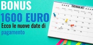bonus 1600 euro luglio nuove date pagamento