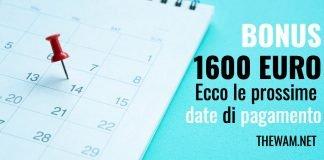 bonus 1600 euro pagamento date