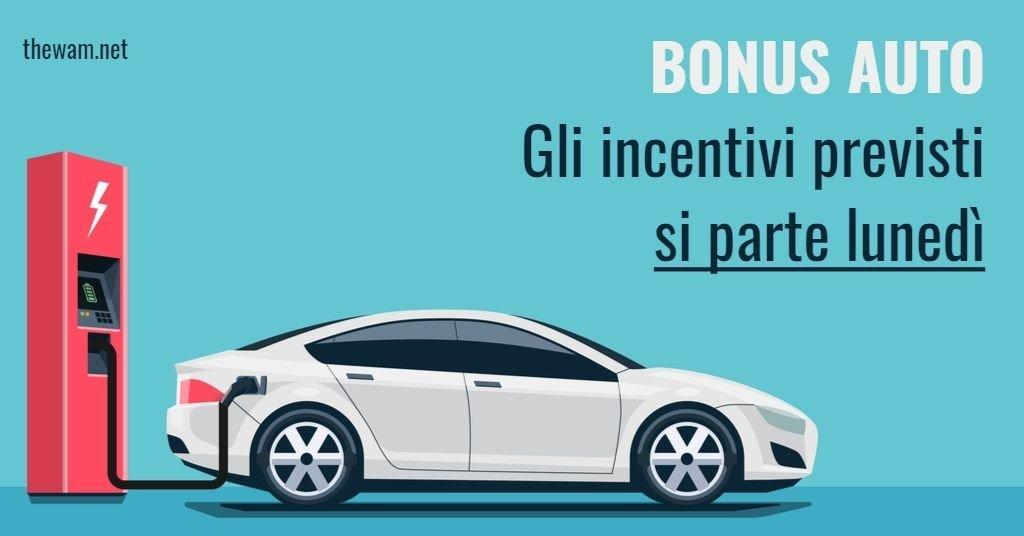 Bonus auto, si parte da lunedì. Tutte le opzioni possibili