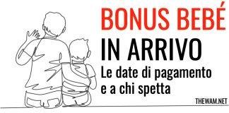 bonus bebè luglio pagamento aprile date