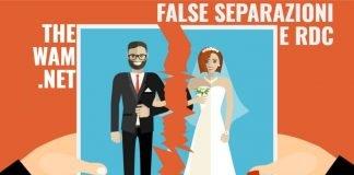 Reddito di Cittadinanza e falsa separazione. Cosa si rischia