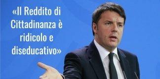 Reddito di Cittadinanza, Renzi: referendum per abolirlo