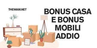 Bonus casa e bonus mobili, rischio sospensione: fate presto