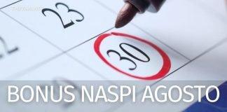 Pagamento Bonus Irpef Naspi agosto 2021: la data