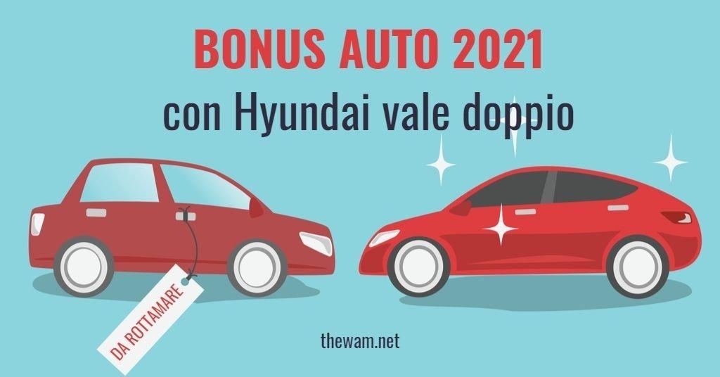 Bonus auto raddoppiato con Hyundai e super bonus 750 euro