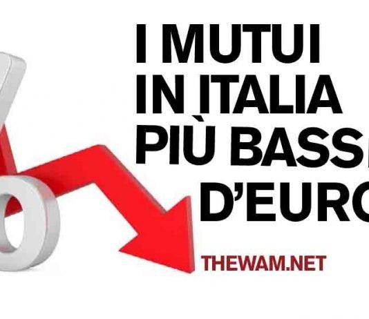 I mutui in Italia più bassi d'Europa, approfittarne ora