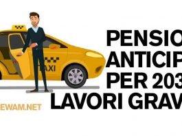 Pensione anticipata per 203 lavori gravosi