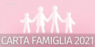 Carta famiglia 2021: dove usarla e come richiederla subito