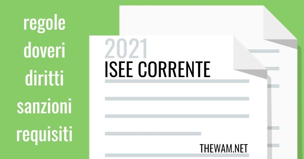 Isee Corrente 2021 e falsa DSU: stop biennale. Nuove regole