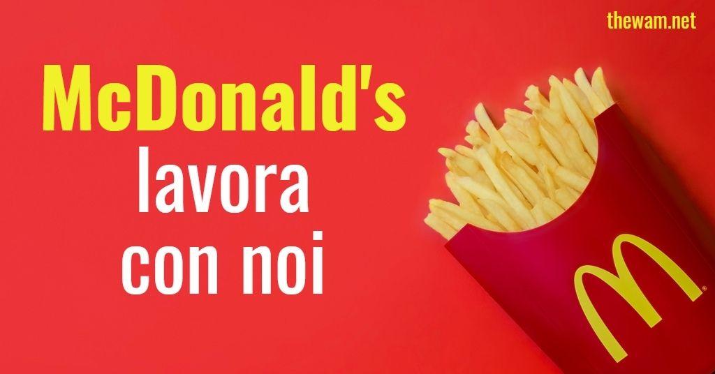 McDonald's lavora con noi: posizioni aperte a settembre 2021