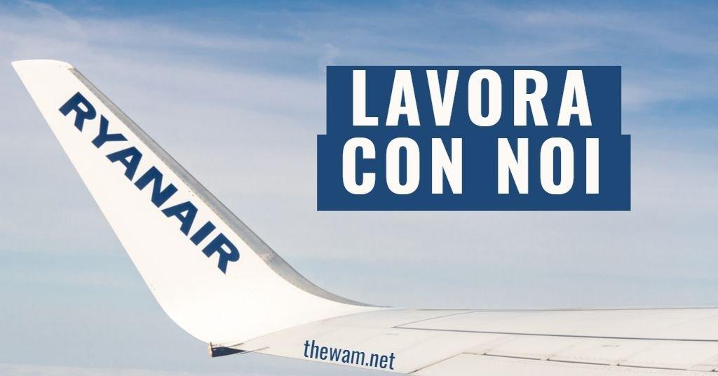 Ryanair lavora con noi: posizioni aperte a settembre 2021
