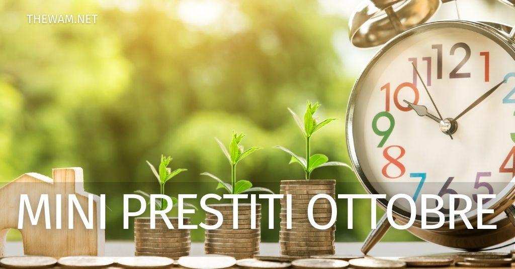 Mini prestito online 1000-3000 euro: le offerte di ottobre